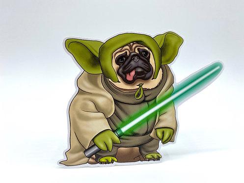Yoda Pug (Die Cut Sticker)