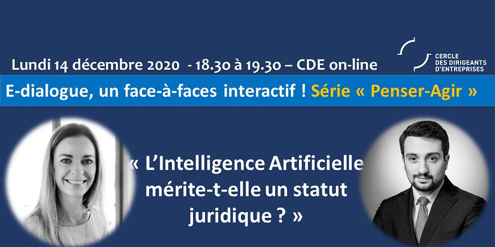 """Janelise FAVRE & Lezgin POLATER ¦ """" L'Intelligence Artificielle mérite-t-elle un statut juridique ?"""""""