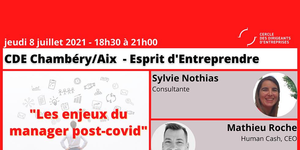 "CDE Chambéry-Aix  ""Les enjeux du manager post-covid"""