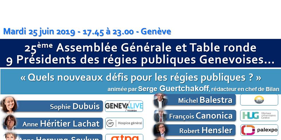 25ème AG et Table Ronde - Quels nouveaux défis pour les régies publiques