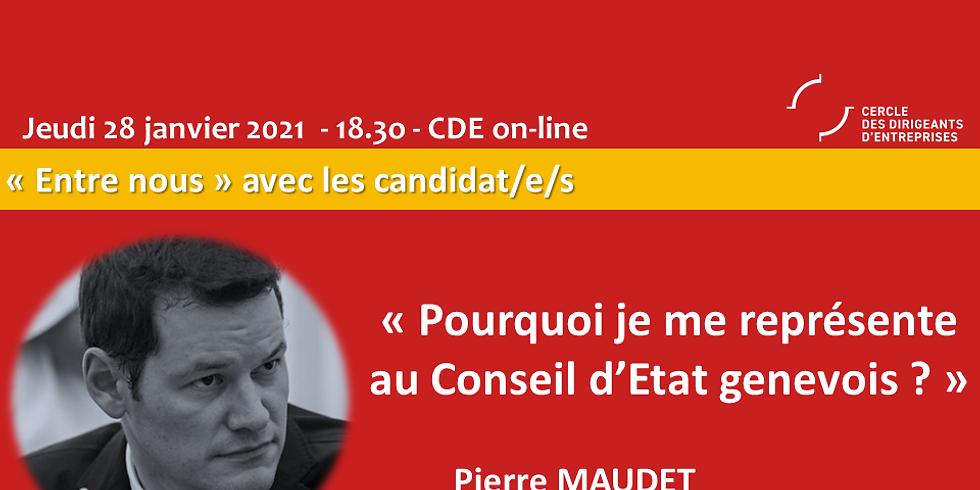Pierre Maudet - Pourquoi je me représente au Conseil d'Etat genevois ?