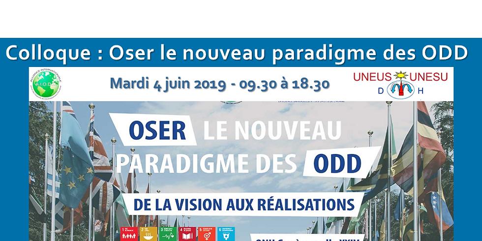 Colloque : Oser le nouveau paradigme des ODD - De la vision à la réalisation