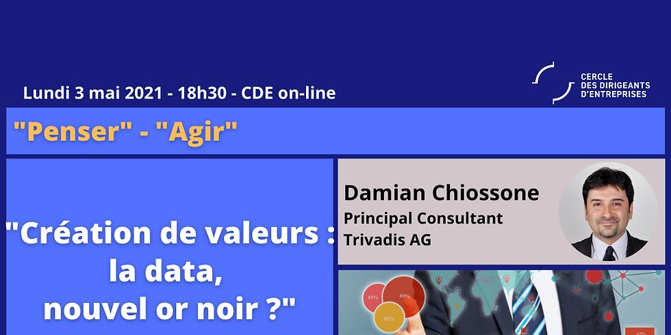 """Damian CHIOSSONE, """"Création de valeurs : la data, nouvel or noir ?"""""""