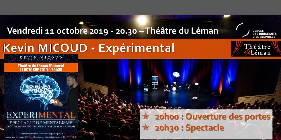 Kévin MICOUD - Mentaliste - Tarif spécial Abonné Théâtre du Léman