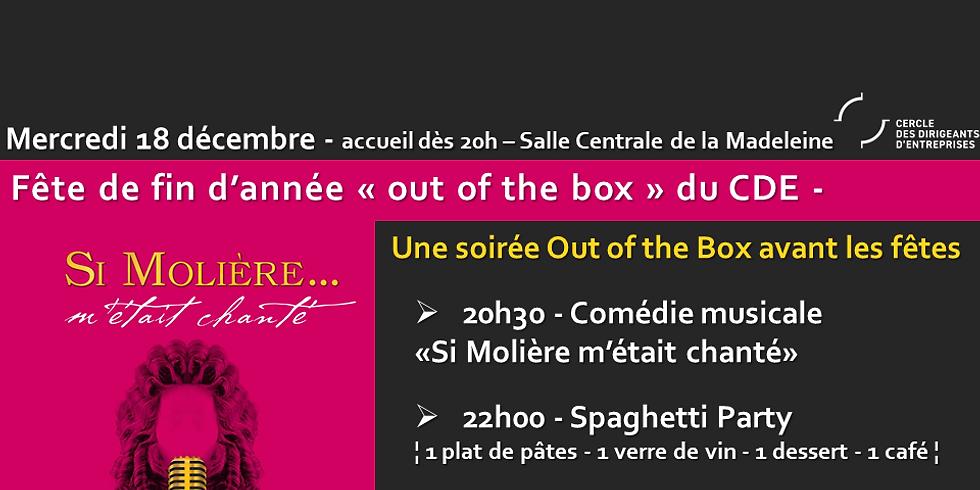 """Fête de fin d'année """"OUT OF THE BOX"""" du CDE"""