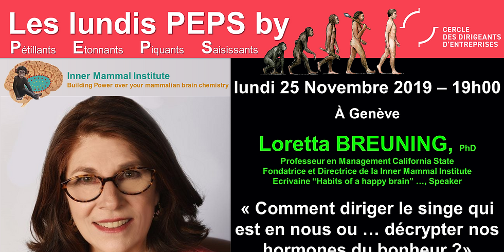 Lundis PEPS by CDE avec Loretta BREUNING