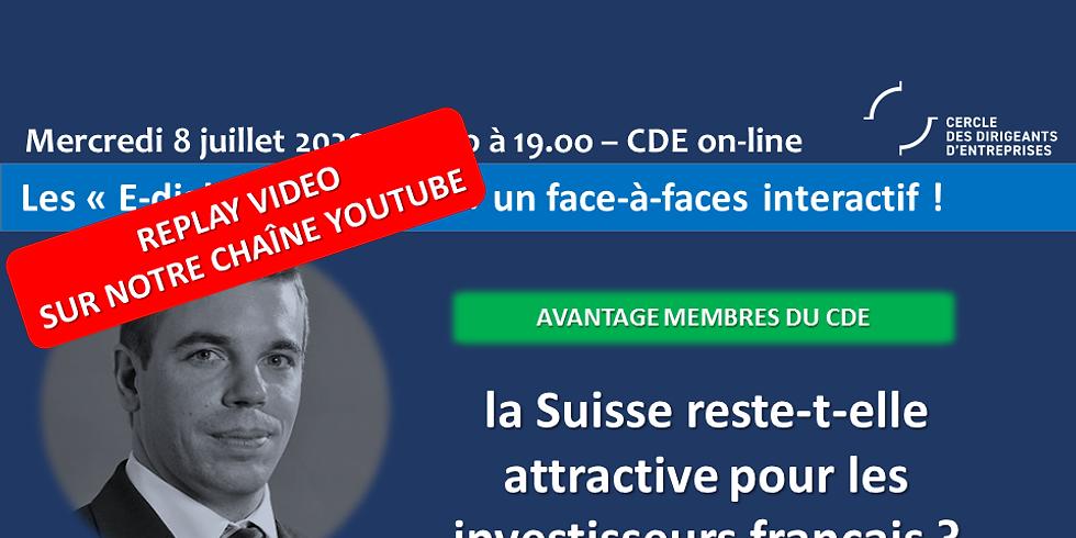 """Face à Faces : """"La Suisse reste-t-elle attractive pour les investisseurs Français ?"""""""