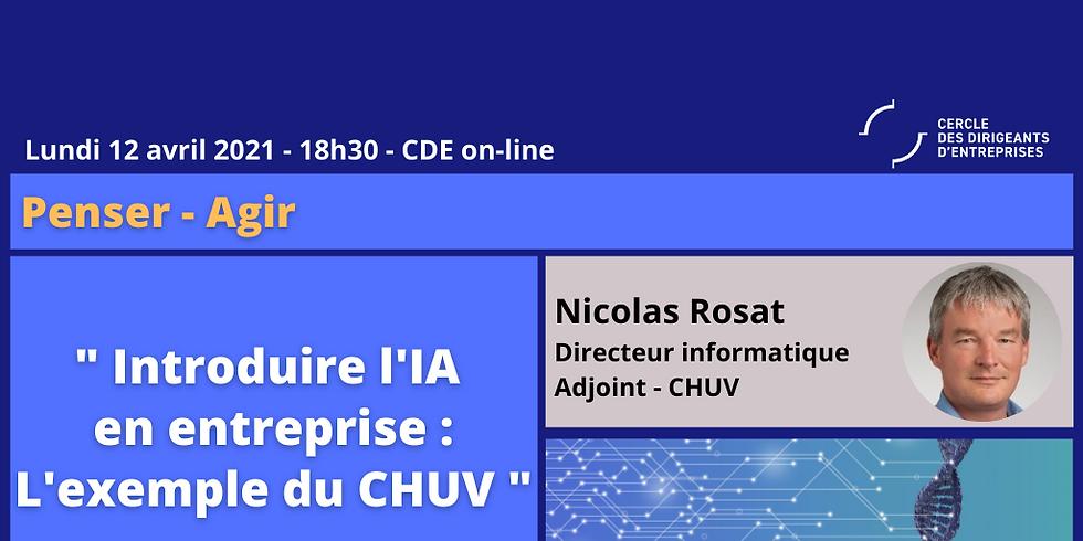 Nicolas ROSAT, «Introduire l'AI dans l'entreprise : l'exemple du CHUV»