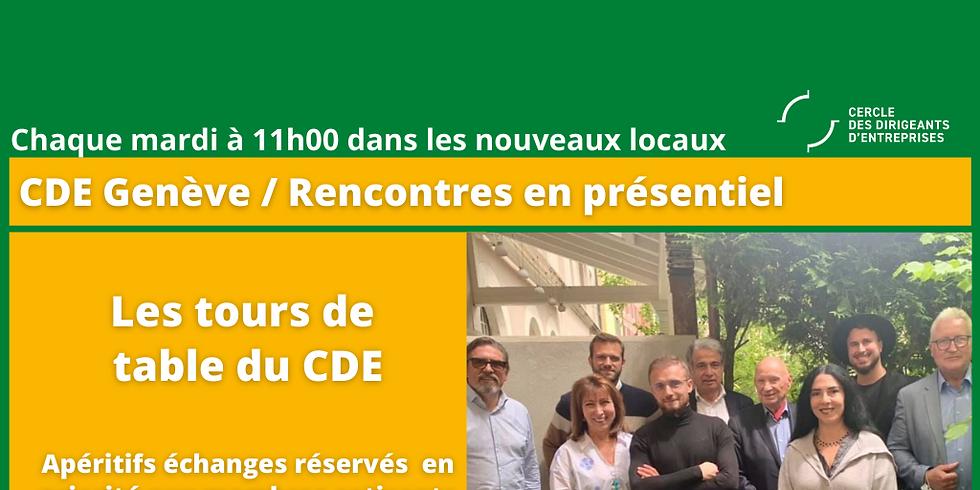 Les Tours de Table du CDE - Un format en présentiel réservé en priorité aux membres cotisants