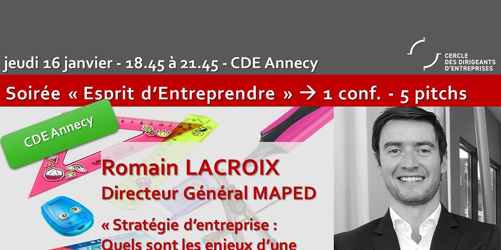 CDE Bassin Annécien ! Romain LACROIX -  « Stratégie d'entreprise - Quels sont les enjeux d'une gouvernance familiale ? »
