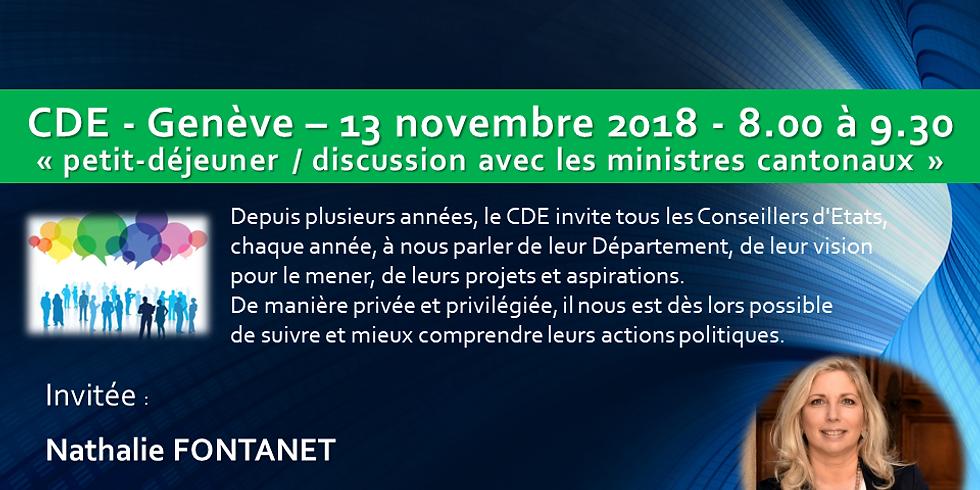 Nathalie FONTANET* : Petit Déjeuner - Discussion du CDE