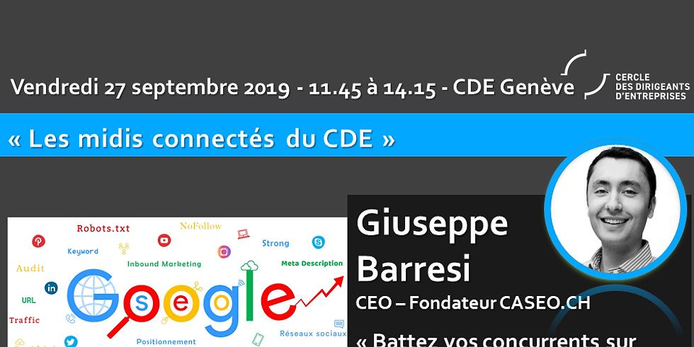 """Giuseppe BARRESI """" Battez vos concurrents sur Google ! """" - Plus de trafic sur votre site grâce au référencement naturel"""