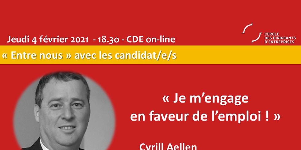 Cyril AELLEN - Je m'engage en faveur de l'emploi !