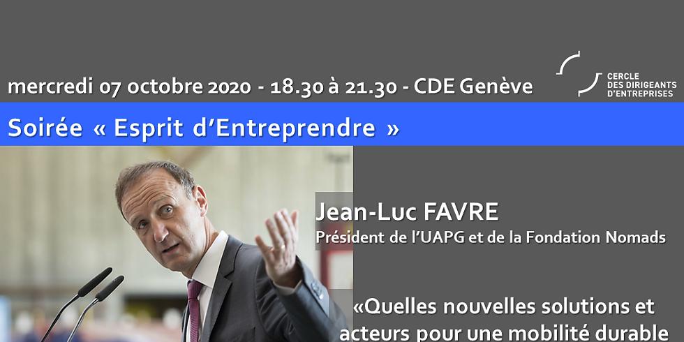 """Genève ¦ EE ¦ Jean-Luc Favre - """"Quelles nouvelles solutions et acteurs pour une mobilité durable dans le grand Genève ?"""""""