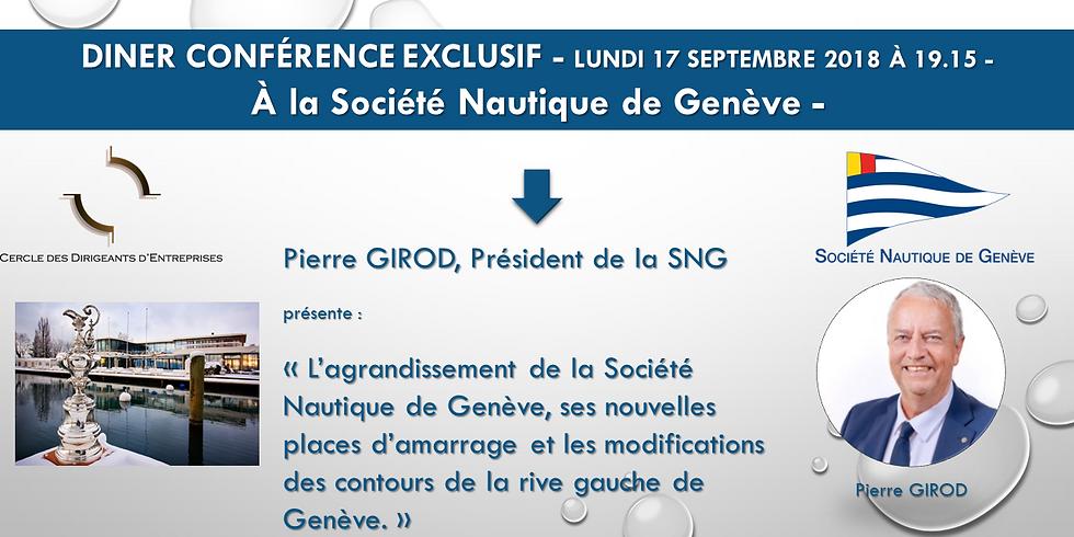 Soirée Diner Conférence à la Société Nautique de Genève