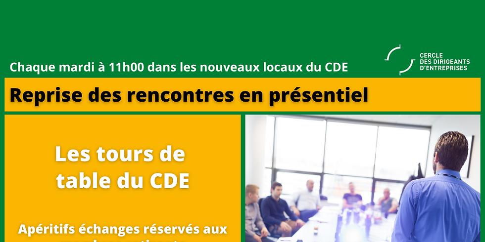 Les Tours de Table du CDE - Un format en présentiel réservé en priorité aux membres