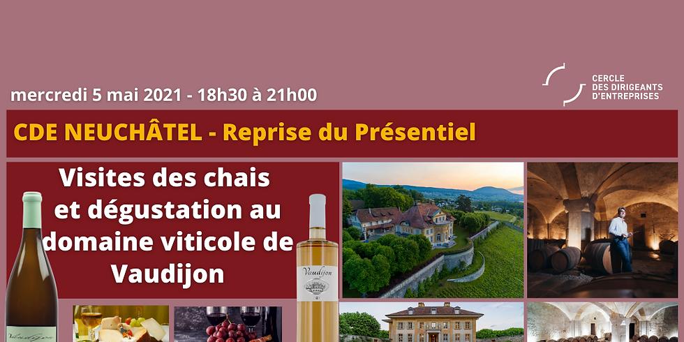 CDE Neuchâtel - Visite du Domaine viticole de Vaudijon