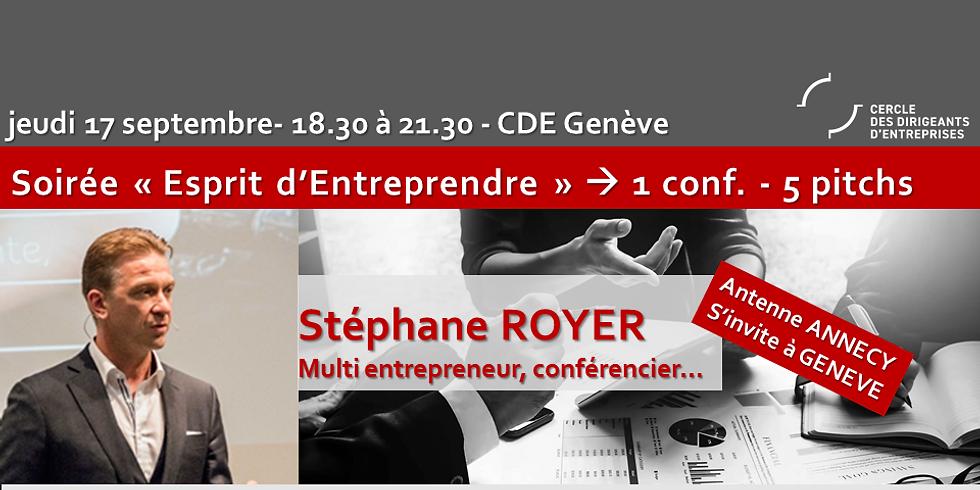 """CDE Annecy s'invite à GENEVE ! Stéphane ROYER -  """" Découvrez les 7 clés de la négociation validées par la science """""""