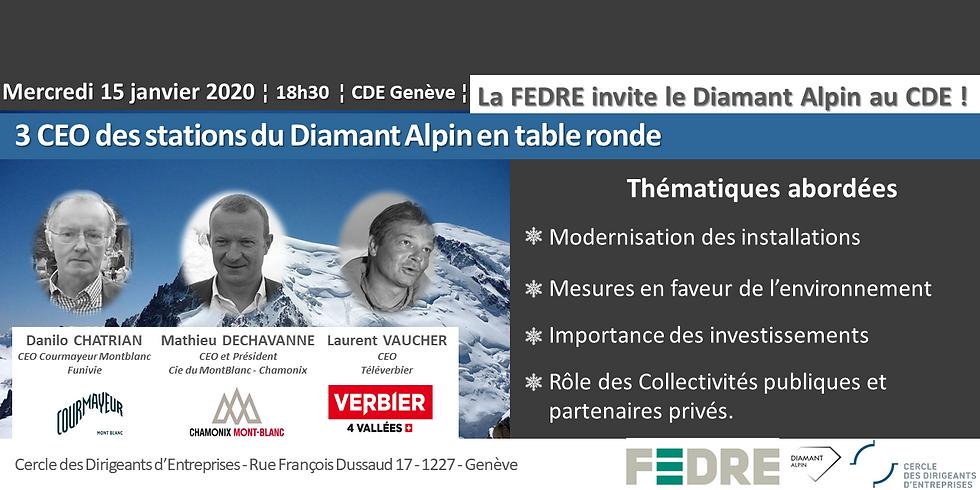 La FEDRE invite 3 CEO de stations du diamant alpin en table ronde