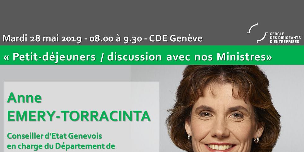 Petit-Déjeuner / Discussion avec les ministres Cantonaux