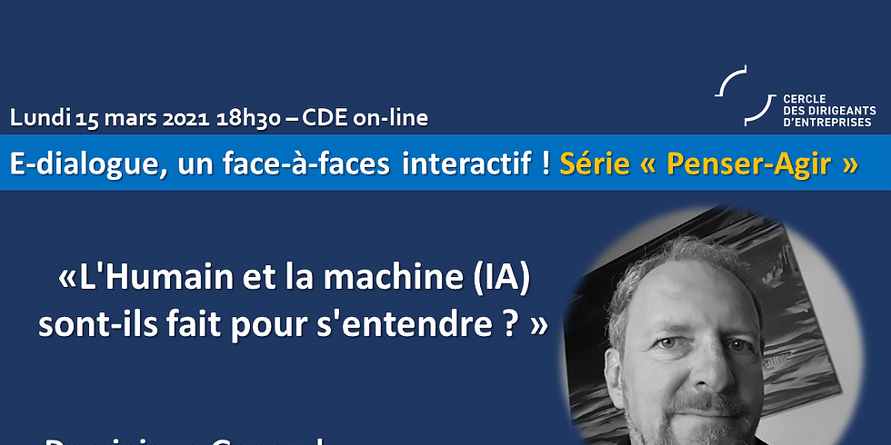 """Dominique Genoud - """"L'Humain et la machine (IA) sont-ils fait pour s'entendre ?"""""""