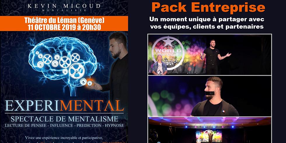Kévin MICOUD - Mentaliste - Pack Entreprise - spectacle Expérimental en VIP