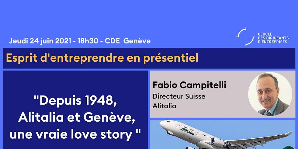 Esprit d'entreprendre Genève ¦ Depuis 1948, Alitalia et Genève, une vraie love story