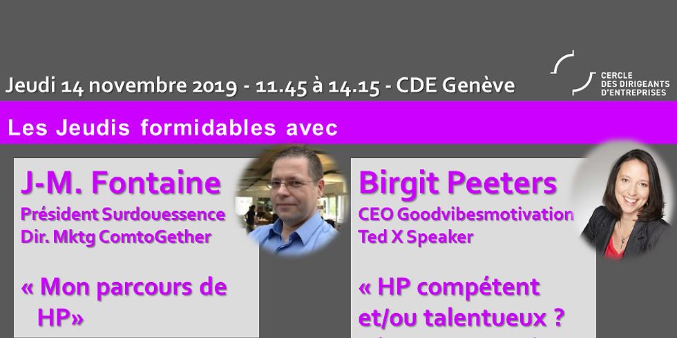 J.M Fontaine et B.Peeters - Le parcours d'un HP - HP, talentueux(use) et/ou compétent(e) ?