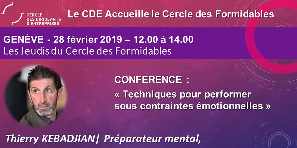 """Thierry KEBADJIAN - """"Techniques pour performer sous contraintes émotionnelles"""""""