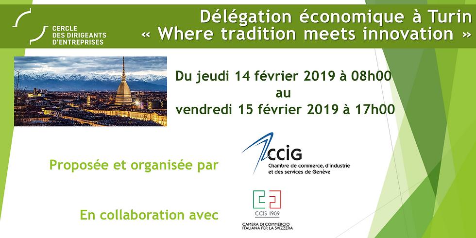 Délégation économique à Turin, 14-15 février 2019