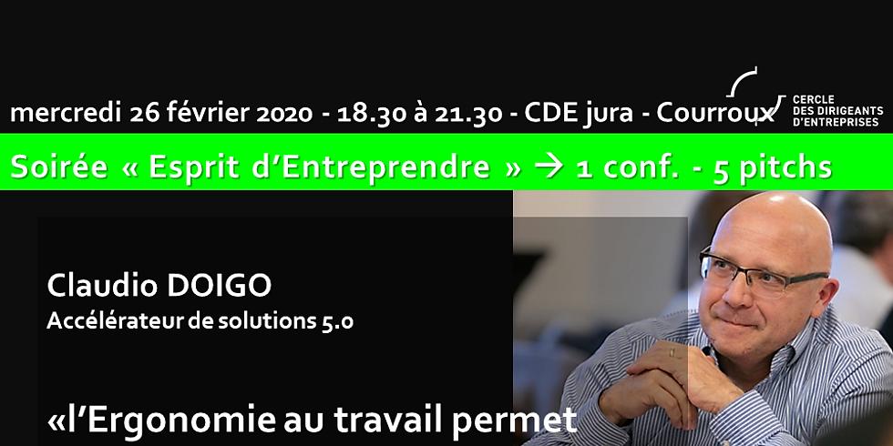 """Antenne Jura Suisse - Claudio Doigo """"L'ergonomie au travail permet d'augmenter la productivité"""""""