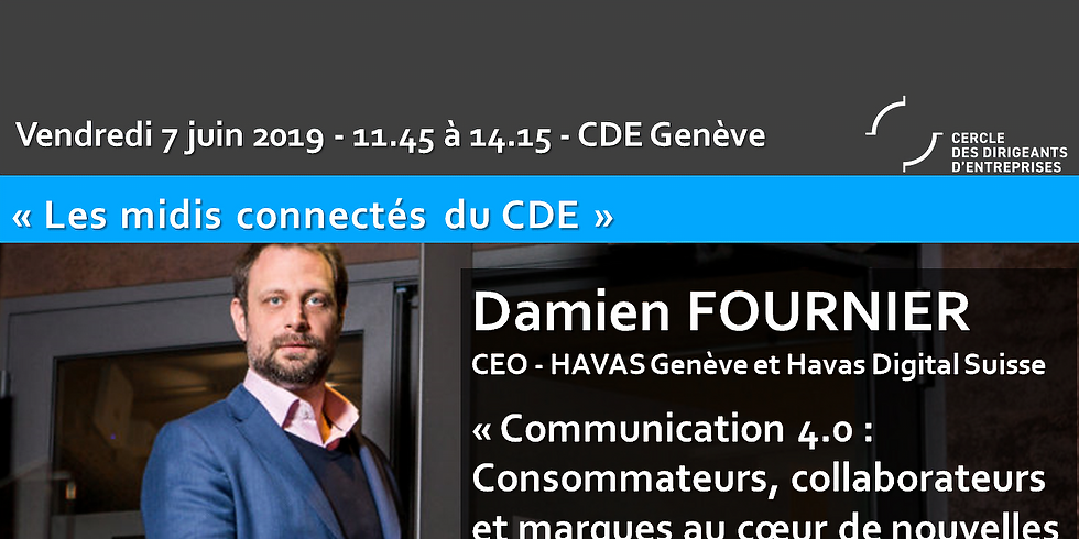"""Damien FOURNIER """"Communication 4.0 - Consommateurs, collaborateurs et marques au coeur de nouvelles constellations"""""""