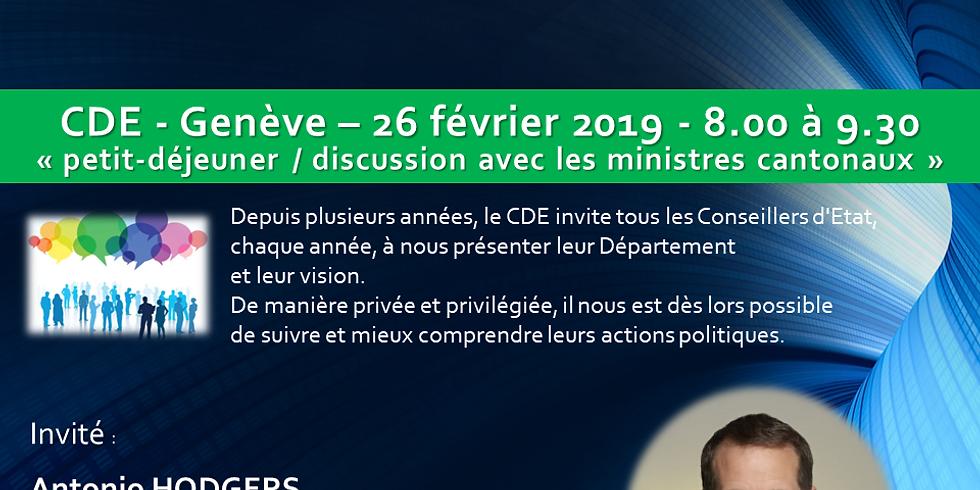 Antonio HODGERS* : Petit Déjeuner - Discussion du CDE
