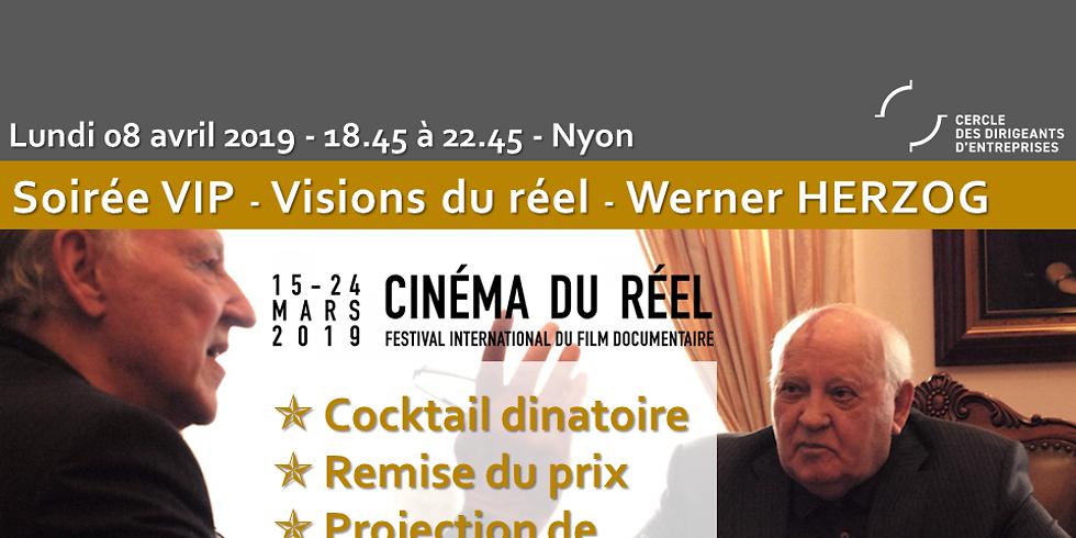 Soirée VIP du CDE avec Werner Herzog, au festival international du Cinéma de Nyon