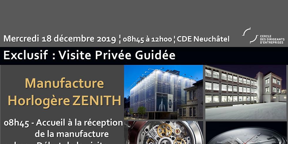 Visite privée exclusive de la manufacture horlogère de luxe Zenith