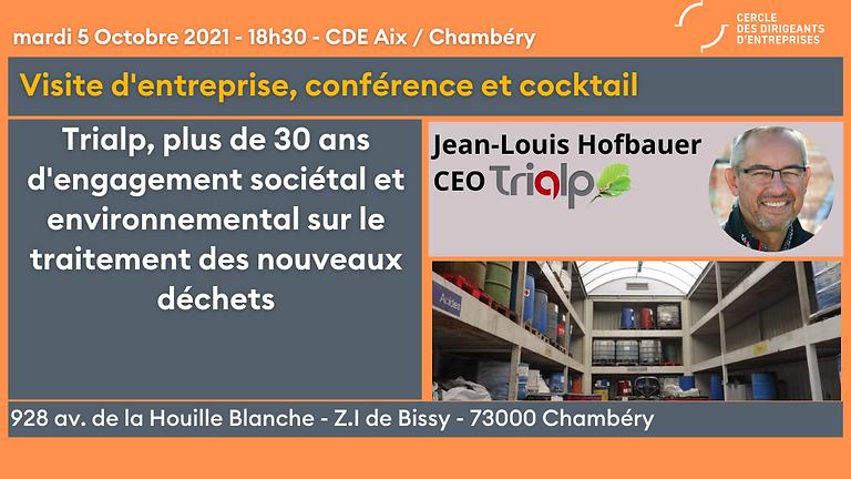 """CDE Aix-Chambéry  """"Trialp, 30 ans d'engagement sociétal et d'innovation sur le traitement des nouveaux déchets"""""""