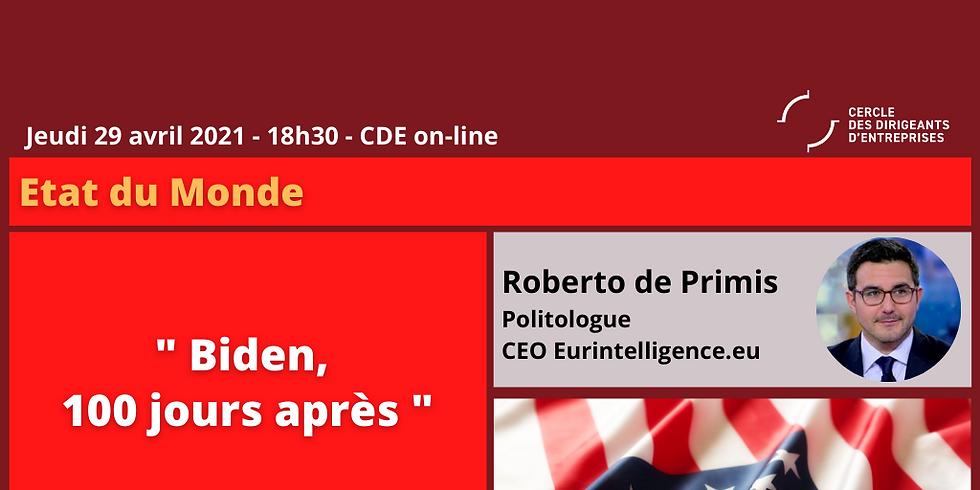 "Roberto DE PRIMIS ¦ ""Biden, 100 jours après"""