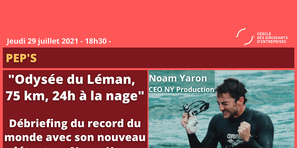 Noam YARON recordman du monde de la traversée du Léman dans la longueur