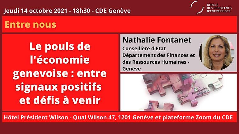 Nathalie FONTANET - Conseillère d'Etat du canton de Genève, en charge des Finances et des Ressources Humaines