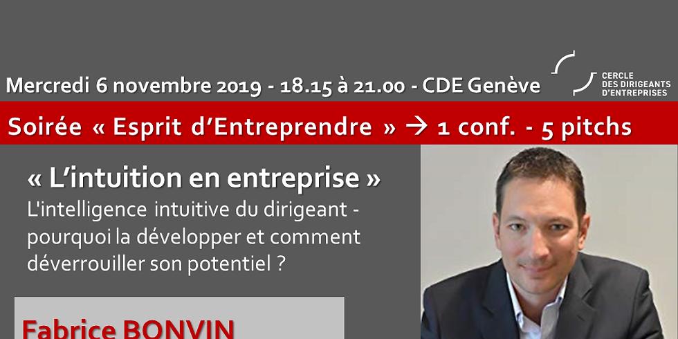 """Fabrice BONVIN -  """"L'intuition en entreprise"""""""