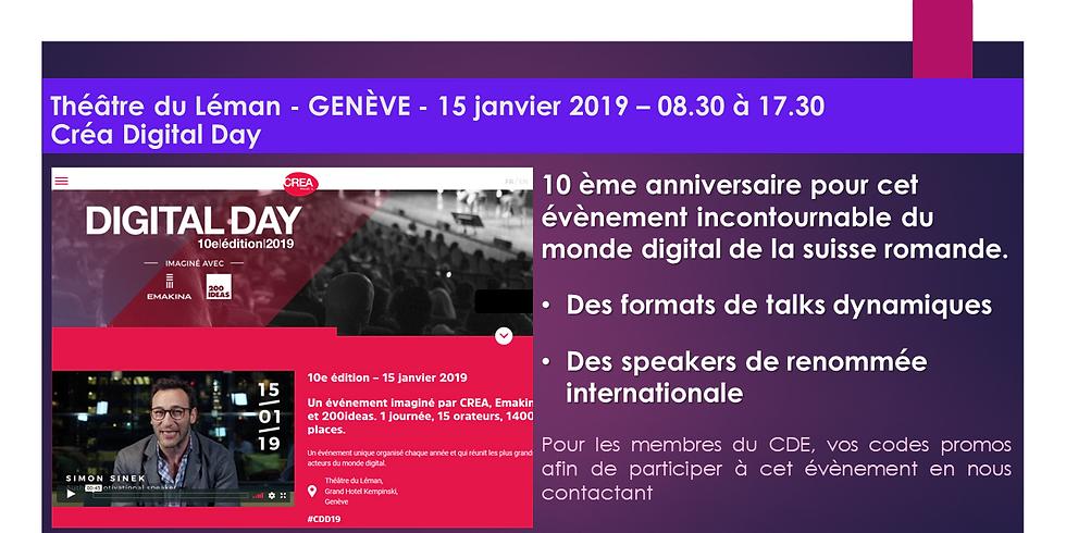 Créa Digital Day - Le rendez-vous digital de Suisse Romande