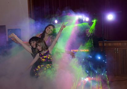 Fog Machine in action at Charity Gig at