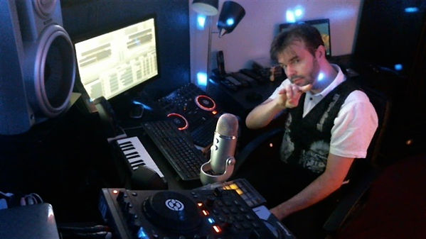 Our specialist Rock DJ, DJ PISTOL PETE broadcasting at The Sheds