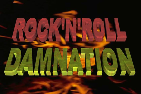 Our logo for Rock'N'Roll Damnation, specialist night by our Rock DJ, Pete