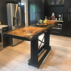 tall top kitchen table with concrete