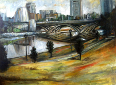 Columbus Ohio oil painting style