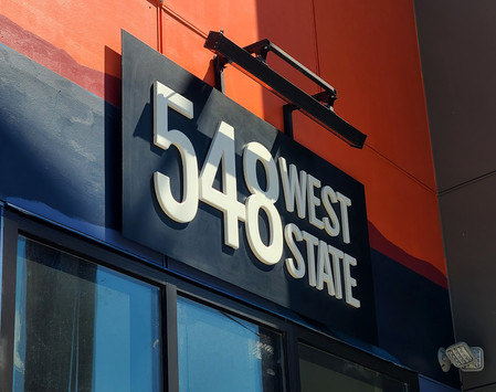 548 West State outdoor sign