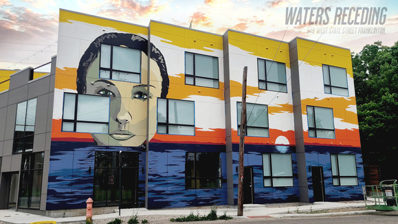 Xlarge building mural