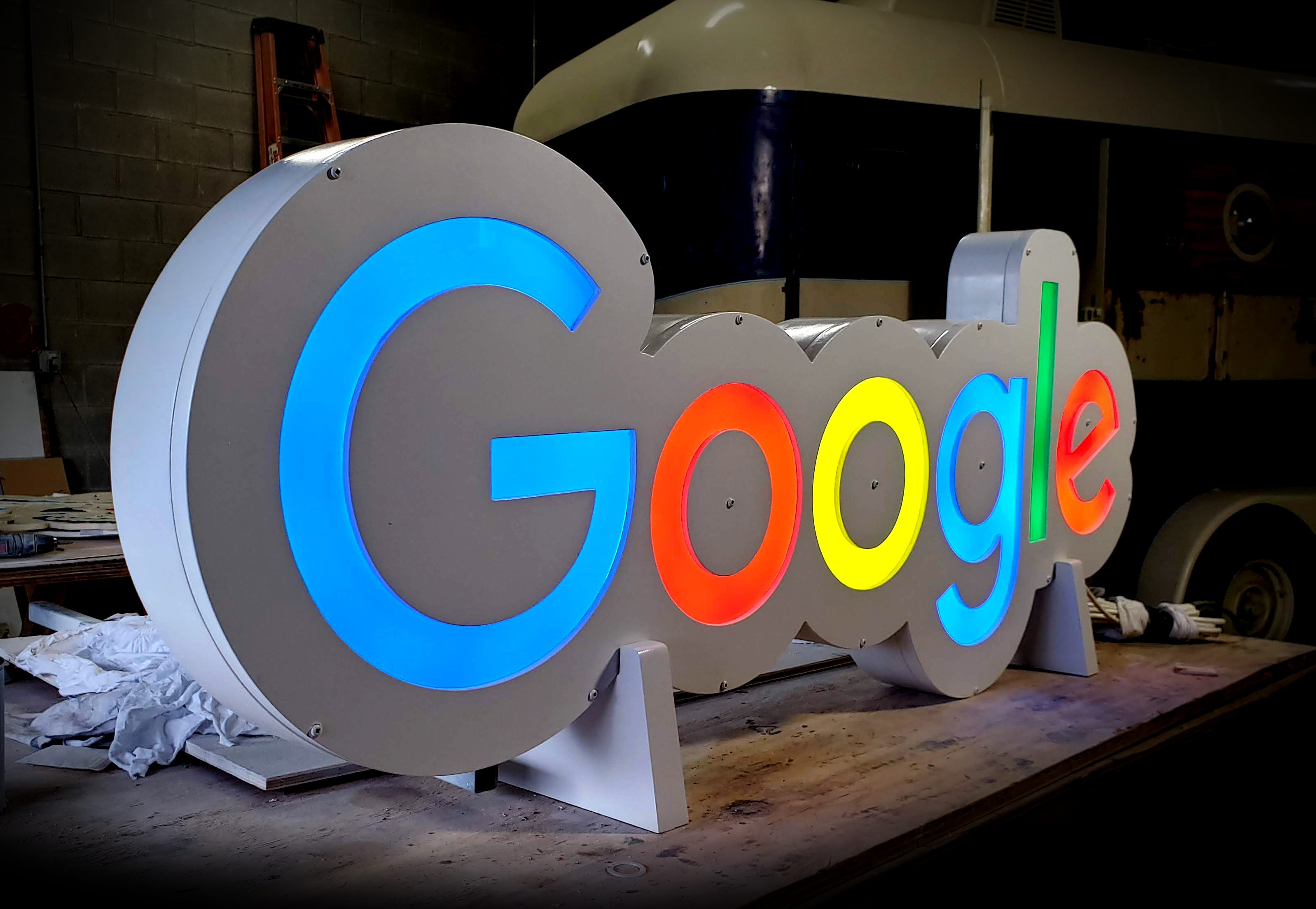 5ft LED interior sign for Google