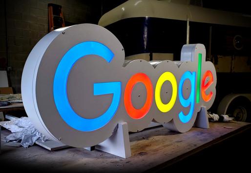 5ft LED interior sign for Google